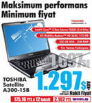 Notebook, Laptop Toshiba Satellite A300-15B